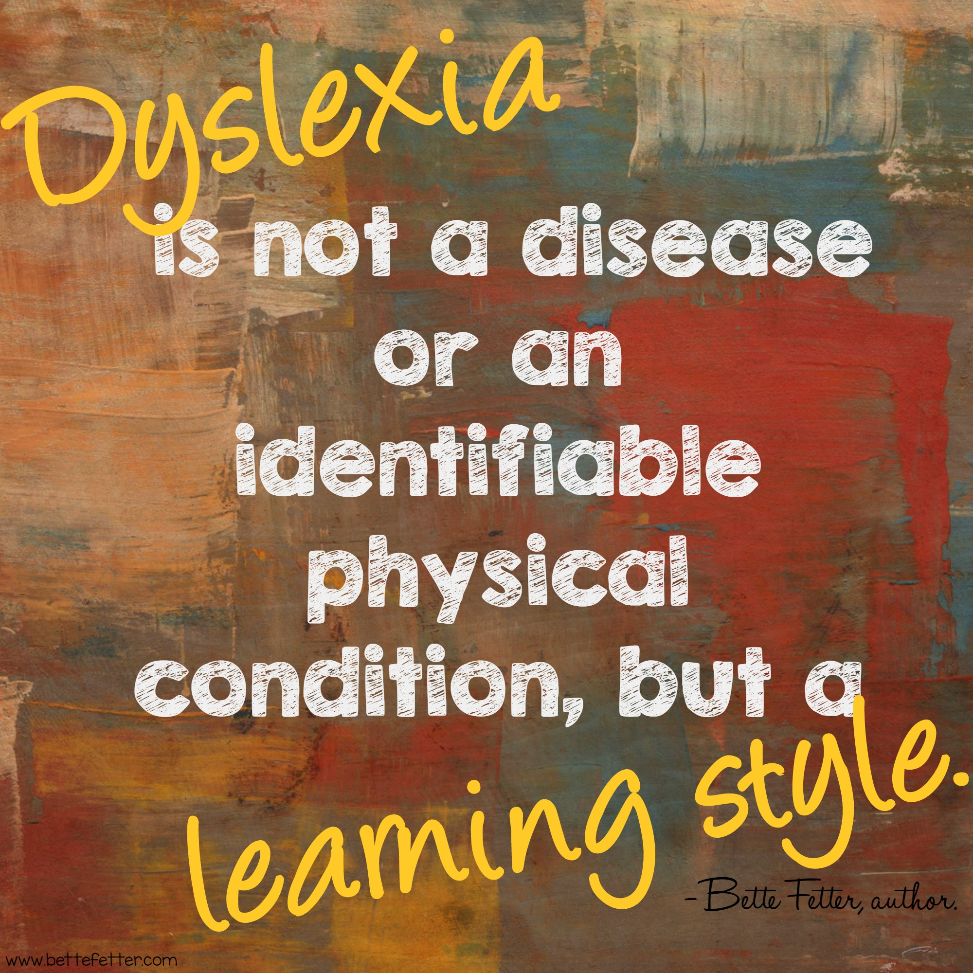 Dyslexia is NOT a Disease